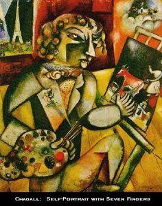 Marc Chagall. Self-Portrait.