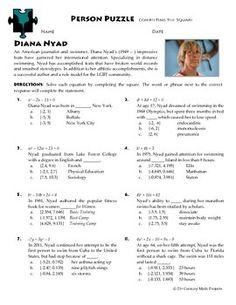 Person Puzzle - Inverse Variation - Bill Nye Worksheet   Bill nye ...