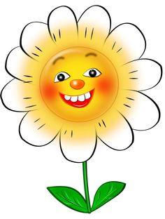 Flor sorrindo