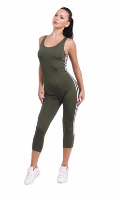 Casual Tight Bodycon Backless Tank Jumpsuit Playsuit - FashionandLove.com