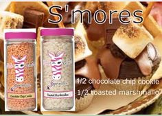 Pink Zebra Recipes: S'mores.  Featuring Chocolate Chip Cookie and Toasted Marshmallow