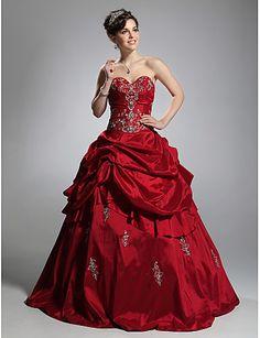 0ec45dc3d908 Plesové šaty Princess Bez ramínek Srdcový výstřih Na zem Taft Maturitní ples  Formální večer Quinceanera Sladkých