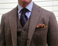 The same 3-piece tweed suit by WW Chan