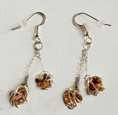 Sterling Silver Wire Wrapped Dangle Heart by Serendipitini on Etsy, $15.00