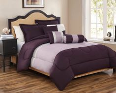 "10 Piece King Tranquil Plum and Lavender Bed in a Bag Set by KingLinen. $94.99. This simple yet elegant comforter set will add a modern look to your bedroom. 2 Decorative pillows included.FeaturesSize: KingColor: Plum/Lavender/Beige100% PolyesterMachine washableThis set includes:1  Comforter (101""x86"")2  Shams (20""x36"") 3  Decorative Cushions Plus 300 Thread Count Cotton Sheets:2 King pillowcases (20"" x 40"")1 King flat sheet (108"" x 102"")1 King fitted sheet (..."