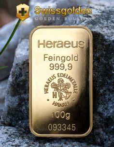 Swissgolden - Lingote de 100 gramos de oro de inversión - https://www.facebook.com/alejandroargilla.emgoldex