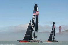 Oracle Americas Cup team on San Francisco bay
