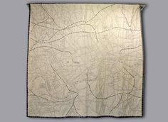 Ekta Kaul ‏#scarves & map #quilt @newashgate gallery