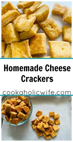 Homemade Cheese Crackers are just like the ones you can buy in the store! Cheesy goodness in a crispy, baked cracker from the comfort of your kitchen. Homemade Cheez Its, Homemade Crackers, Homemade Cheese, Broccoli Cheese Casserole, Turkey Casserole, Cracker Chicken, Pumpkin Seed Recipes, Cooking Challenge, Cheese Spread