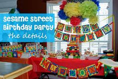 diy sesame street birthday party ideas - Google Search