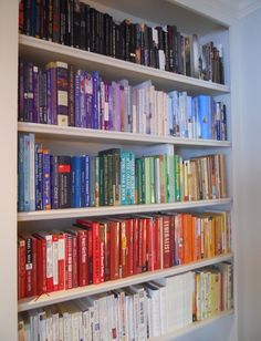 Another rainbow bookcase!