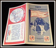 1977 NEW YORK YANKEES APA TRANSPORT BASEBALL SCHEDULE MUNSON ON COVER FREE SHIP  #Pocket #Schedule