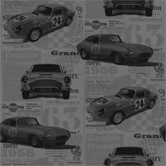 1 Roll X Fine Decor Gold Jaguar Vintage Motor Car Racing Boys Wallpaper for sale online Race Car Bedroom, Kids Bedroom Wallpaper, Vintage Race Car, Jaguar E Type, Car Wallpapers, Designer Wallpaper, Luxury Cars, Race Cars, Retro Vintage