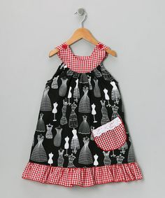 Red Fashion Yoke Dress - by Ruby and Rosie on #zulily today!