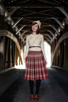 Adorable as always in #plaid, Rebecca of The Clothes Horse!