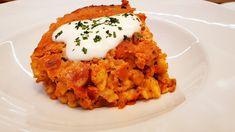 Békési húsos galuska ~ Nokedli recept @Szoky konyhája Risotto, Cauliflower, Vegetables, Breakfast, Ethnic Recipes, Youtube, Food, Hungary, Meat