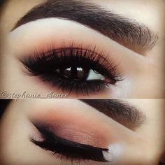 Gorgeous eye makeup and eyebrows