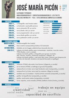 José María nos envía su CV. ¿Qué te parece?