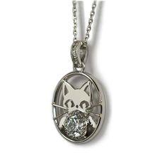 ご結婚10周年記念のダイアモンドペンダント・ネックレス【猫モチーフ】  Diamond pendant necklace cat motif of your wedding 10 anniversary