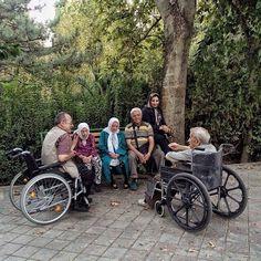 Elderlies spend time together at a park. #Tehran, #Iran. Photo by Maryam Vahdati @maryamvhdt #everydayTehran #everydayIran