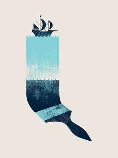Creative Poster, Design, Paint, Sea, and Illustration image ideas & inspiration on Designspiration Art And Illustration, Graphic Design Illustration, Illustrations Posters, Graphic Art, Design Graphique, Art Graphique, Design Poster, Design Art, Boat Design