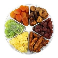 Dried Fruit Deluxe Gift Tray 6 Section Collection of Fresh Fruits By FirstChoiceCandy *** For more information, visit image link.Note:It is affiliate link to Amazon.