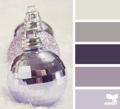 new year sparkle- Purple ornaments Color Palette - Paint Inspiration- Paint Colors- Paint Palette- Color- Design Inspiration