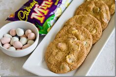 cadbury mini egg chocolate chip cookies-omg these are my favorite easter candy!