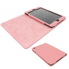 NEW CASE COVER STAND SKIN POUCH POLYURETHANE LEATHER PINK APPLE IPAD MINI RETINA