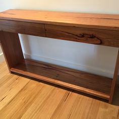 Recycled blackbutt and hardwood timber hall table