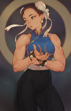 Art Vault — Street Fighter - Chun-Li by Morry Evans * Art Anime, Anime Art Girl, Female Character Design, Character Art, Street Fighter Characters, Poses References, Video Game Art, Comic Art, Comic Book