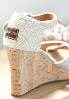 TOMS wedges are always ready for any occasion.