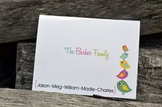 Personalizados papelería familiar / por itsybitsypaper en Etsy