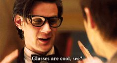 Dr Who glasses are cool animated gif