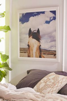 Kevin Russ Cloudy Horse Head Art Print - Urban Outfitters