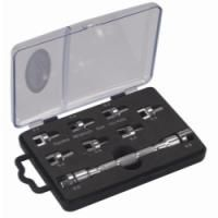 Motorcycle Pro Spoke Tool Kit Features and Benefits: Use to tighten or loosen spoke nuts found on most motorcycle wheels Nine interchangeable wrench ends Includes the following sizes: 5.2 mm, 5.4 mm, 5.6 mm,  5.8 mm, 6.0 mm, 6.2 mm, 6.4 mm ,6.6 mm, 6.8 mm.
