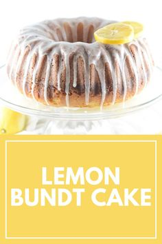 This Lemon Bundt Cake will make it feel like there's summer in every bite. With the perfectly light taste of lemon and no overbearing flavor, this dessert is perfect for any occasion. All the classic attributes of a bundt cake, topped with a delightful lemon drizzle. #bundtcake #lemoncake #dessert Homemade Donuts, Homemade Cake Recipes, Best Cake Recipes, Easy Desserts, Delicious Desserts, Dessert Recipes, Sweet Desserts, Dessert Ideas, Lemon Bundt Cake