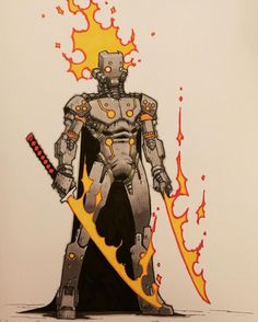 Artwork by Artemii Myasnikov Character Concept, Character Art, Robot Art, Robots, Cyberpunk Art, Character Design Inspiration, Sci Fi Art, Creature Design, Monster