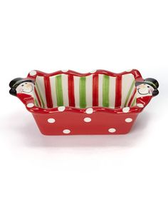 Another great find on #zulily! Holiday Stripe Snowman Mini Loaf Pan #zulilyfinds