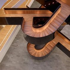 UNcity by 3XN staircase in lacquered steel & wood
