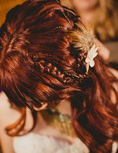 40 Inspiring Boho Bridal Hair Ideas   HappyWedd.com