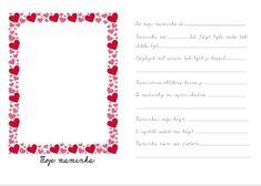 Nezapomeň doplnit E ve slově se - špatně zvolený font Valentines, Chart, Suitcase, Valentine's Day Diy, Velentine Day, Valentine's Day, Valentine Craft, Valentines Day