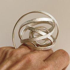 ute decker | sculptural rings, architectural rings, architectural jewellery, wearable sculptures, ring sculptures, art jewellery