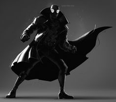 Spider-Man into the Spiderverse, Spider-Man Noir Noir Spiderman, Spiderman Kunst, Amazing Spiderman, Marvel Comic Universe, Marvel Dc Comics, Marvel Heroes, Comic Book Characters, Comic Character, Character Design