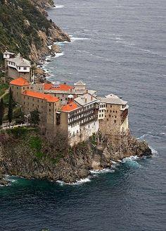 Osiou Gregoriou Monastery, Mount Athos, Greece   by thiv