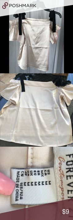 Conteperary Blouse Silky Champagne colored Forever 21 Tops Blouses