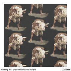 http://www.zazzle.com/bucking_bull_fabric-256627213449793677