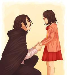 Papa and his princess. I just love Sasuke!