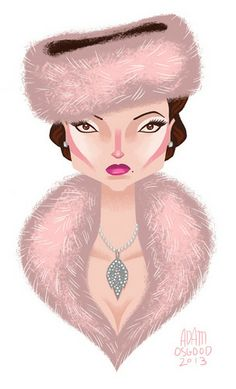 Fan Art of Royalty/OUAT for fans of Once Upon A Time. Here's Regina's wintery look way back from season 1. @c t looks ever so lovely in fur!