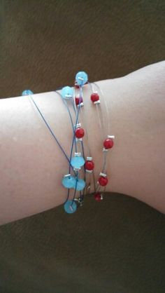 Handmade bracelets with crystals